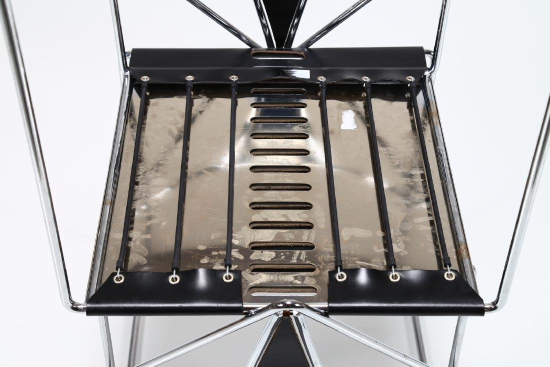 KAZUHIDE TAKAHAMA Pair of chairs in chromed metal and - 4