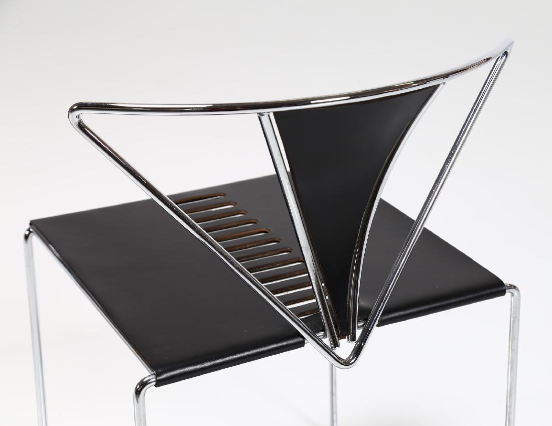 KAZUHIDE TAKAHAMA Pair of chairs in chromed metal and - 6