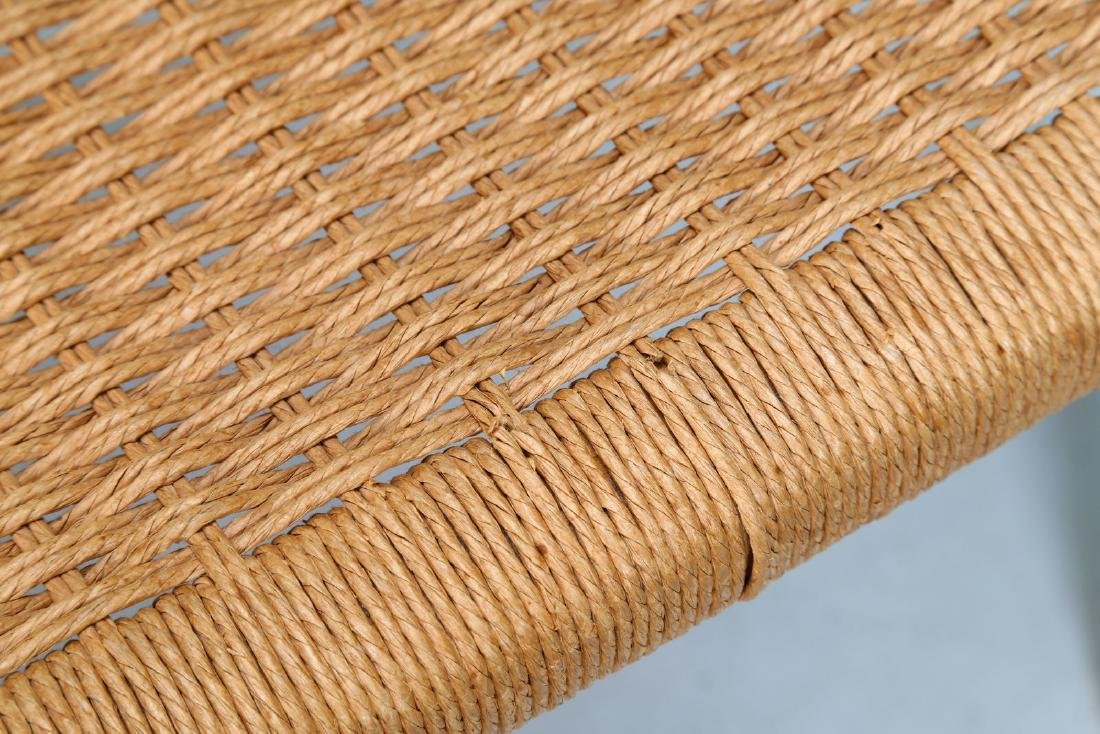 MANIFATTURA DANESE  Elm and raffia chair. - 6