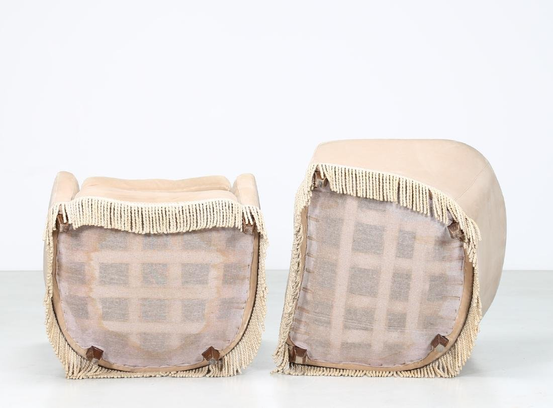 MANIFATTURA ITALIANA  Pair of wood and fabric - 3