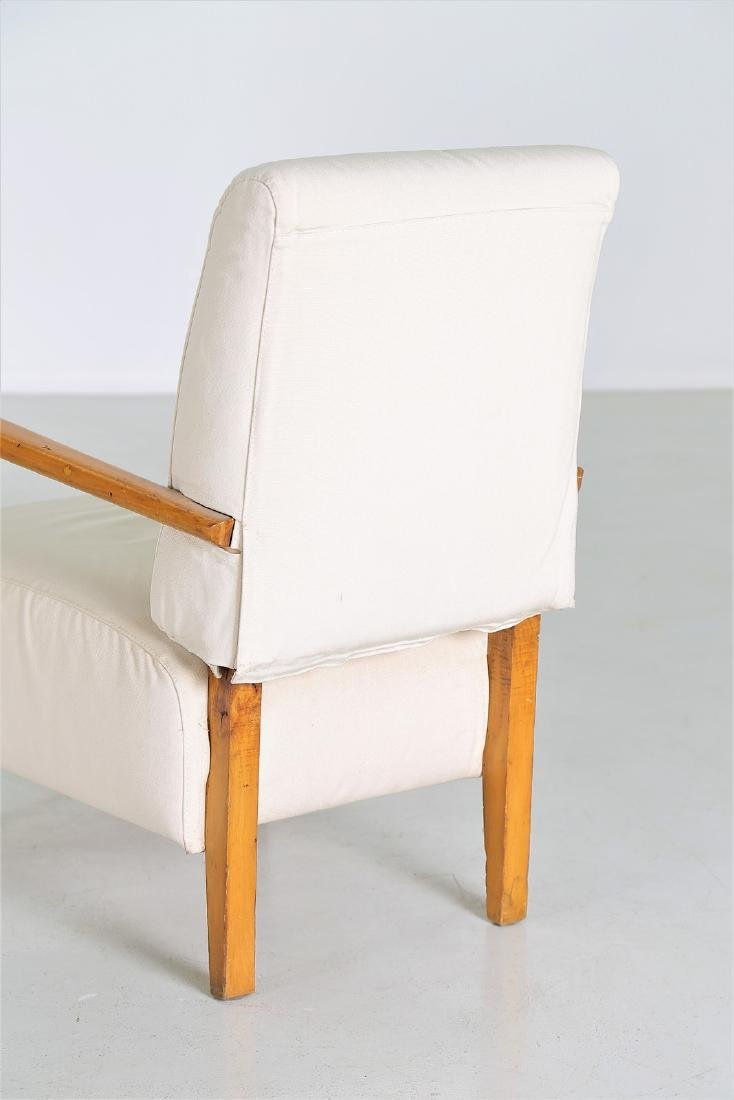 STUDIO CASSINA Pair of wood and fabric armchairs, - 3
