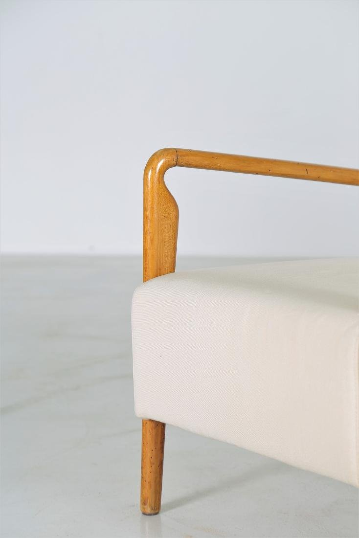 STUDIO CASSINA Pair of wood and fabric armchairs, - 5