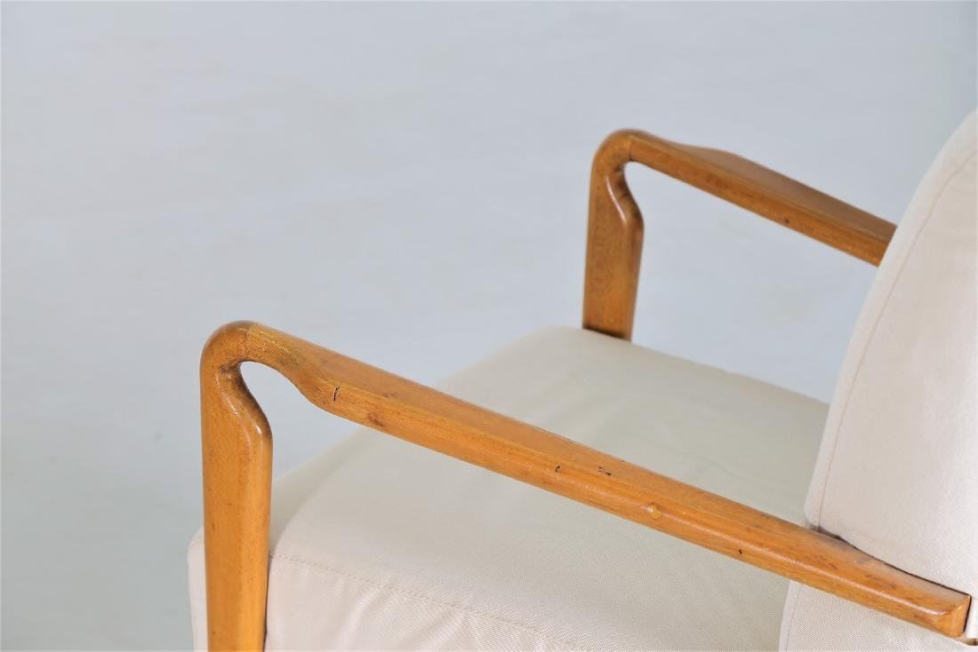 STUDIO CASSINA Pair of wood and fabric armchairs, - 7