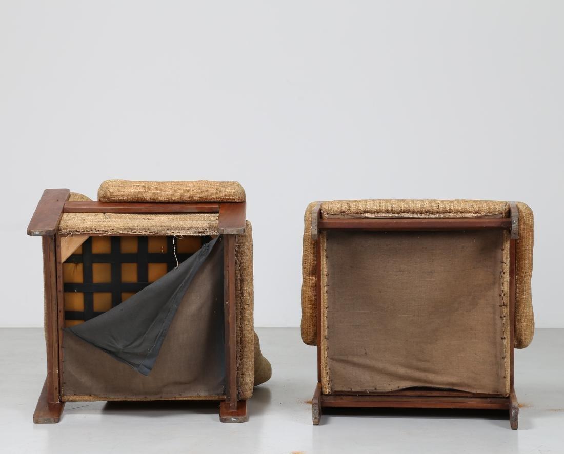 SERGIO SAPORITI Pair of armchairs in wood and original - 3