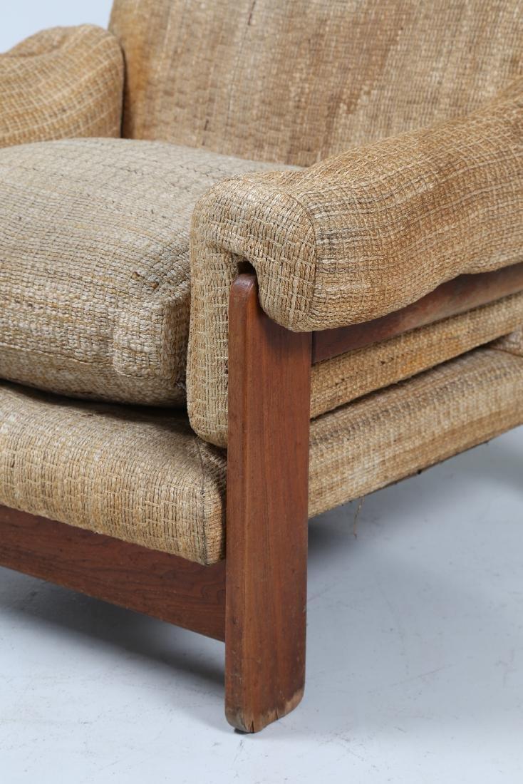 SERGIO SAPORITI Pair of armchairs in wood and original - 4