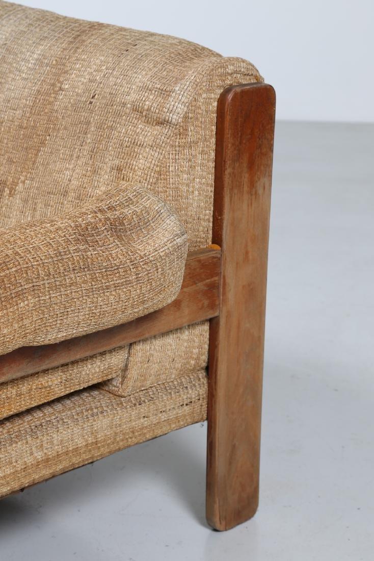 SERGIO SAPORITI Pair of armchairs in wood and original - 5