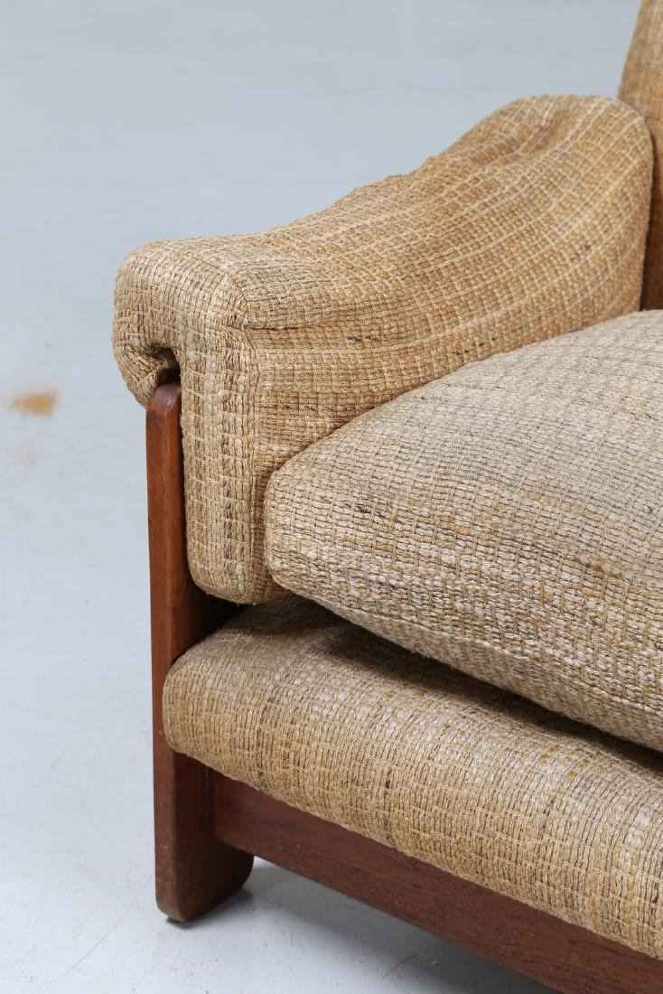 SERGIO SAPORITI Pair of armchairs in wood and original - 7