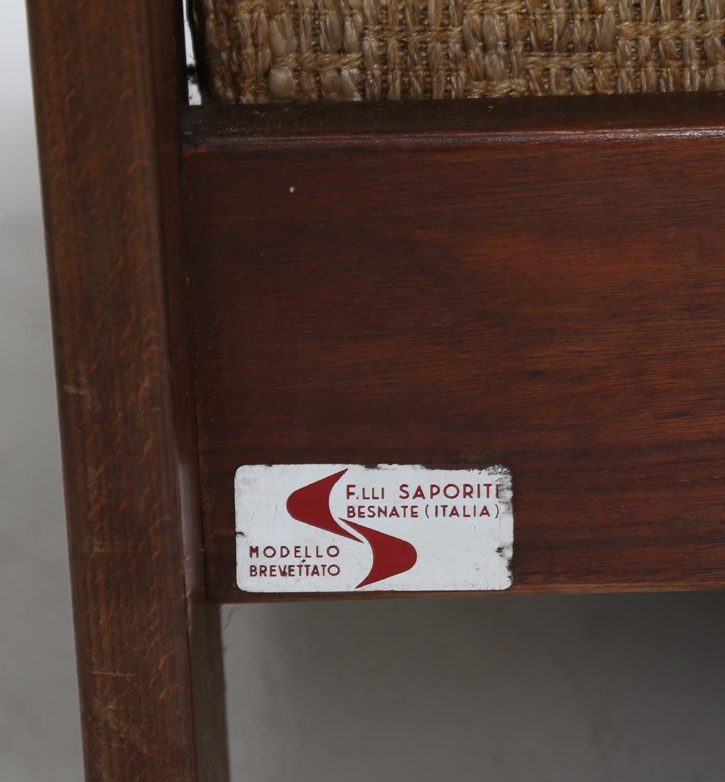SERGIO SAPORITI Pair of armchairs in wood and original - 9