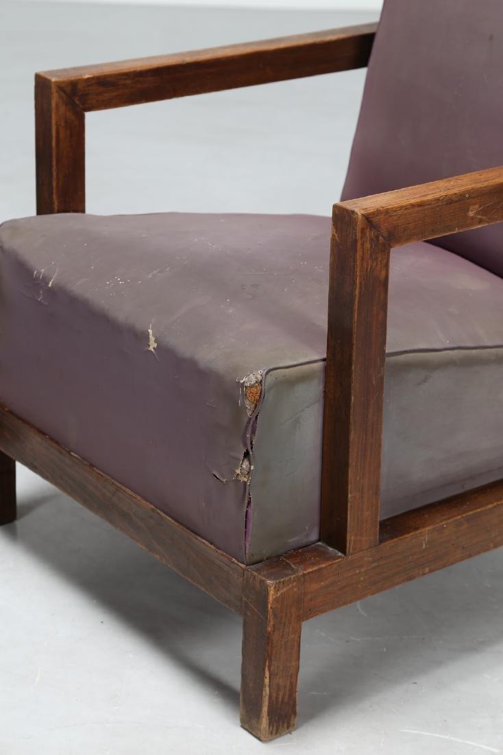 MANIFATTURA ITALIANA  Armchair and footstool in wood - 4