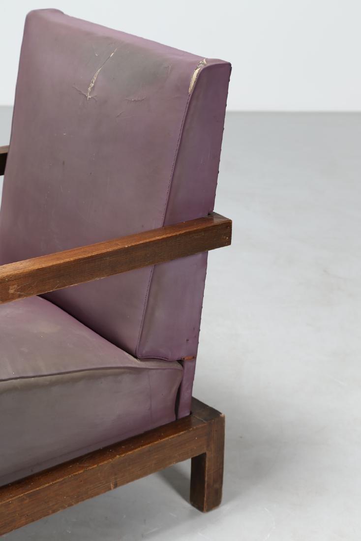 MANIFATTURA ITALIANA  Armchair and footstool in wood - 5