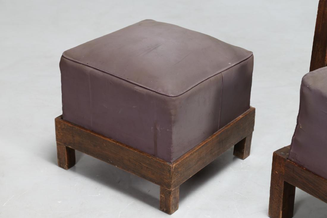MANIFATTURA ITALIANA  Armchair and footstool in wood - 6