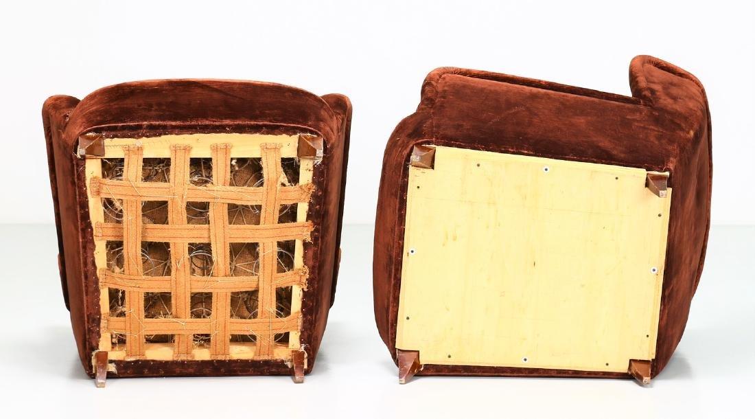 MANIFATTURA ITALIANA  Pair of wood armchairs with - 3
