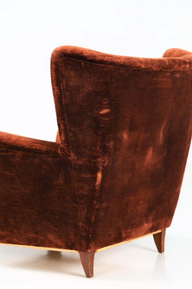 MANIFATTURA ITALIANA  Pair of wood armchairs with - 5