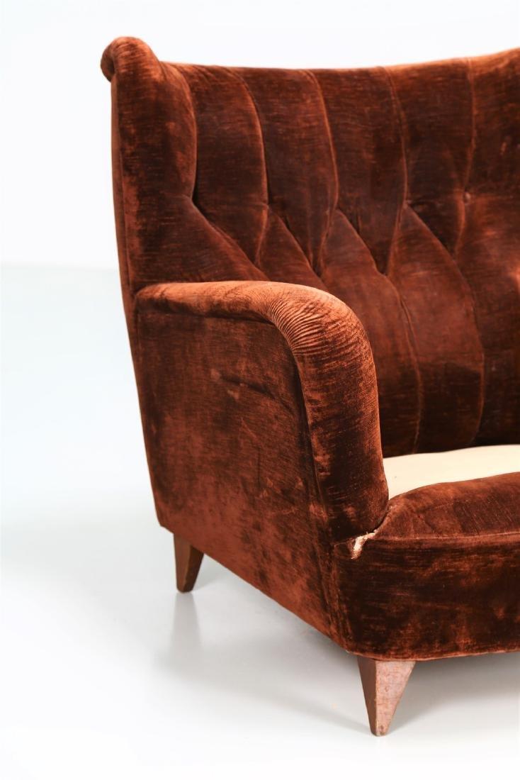 MANIFATTURA ITALIANA  Pair of wood armchairs with - 6