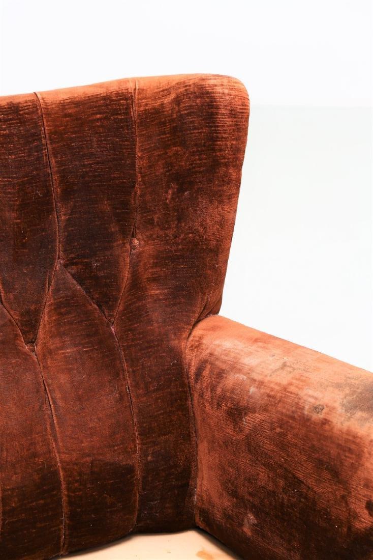 MANIFATTURA ITALIANA  Pair of wood armchairs with - 7
