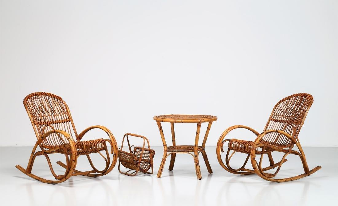 MANIFATTURA ITALIANA  Pair of rocking chairs, small