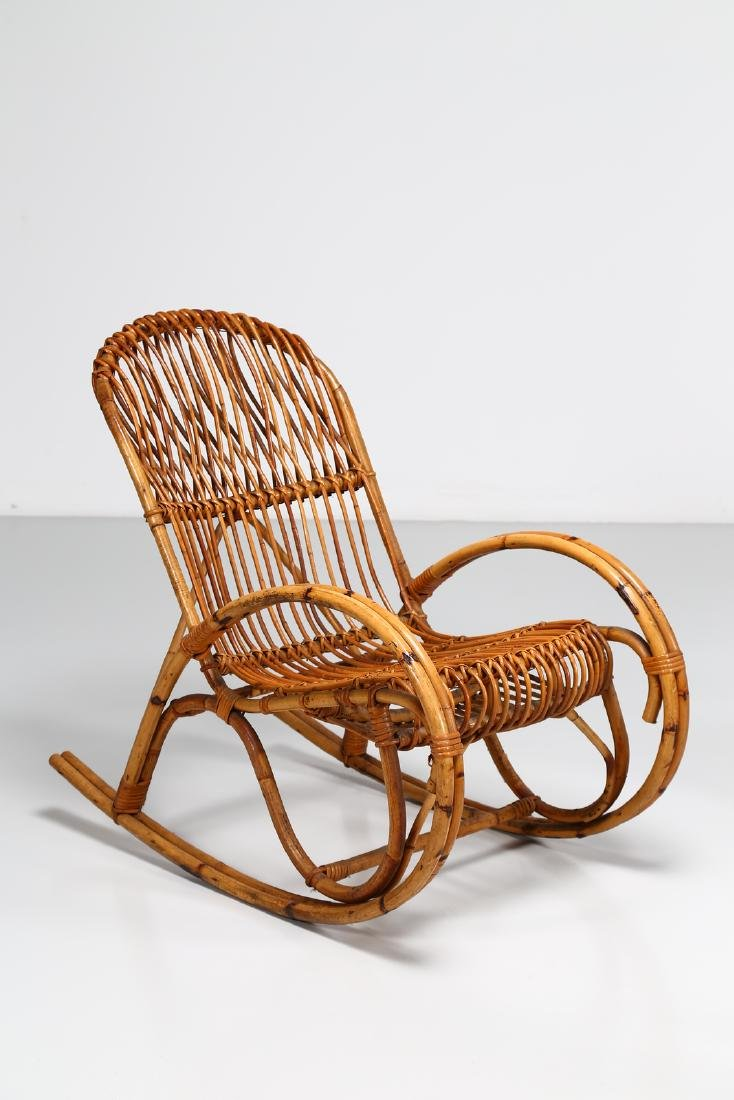 MANIFATTURA ITALIANA  Pair of rocking chairs, small - 2