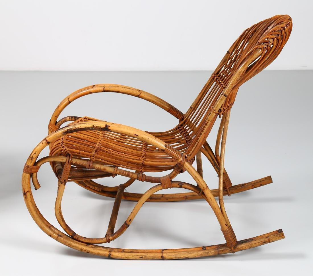 MANIFATTURA ITALIANA  Pair of rocking chairs, small - 5