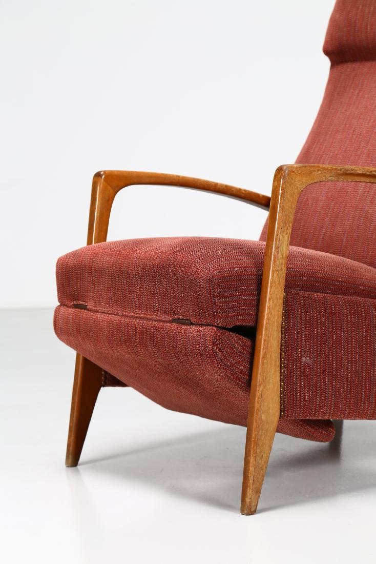 MANIFATTURA ITALIANA  Recliner armchair in walnut and - 3