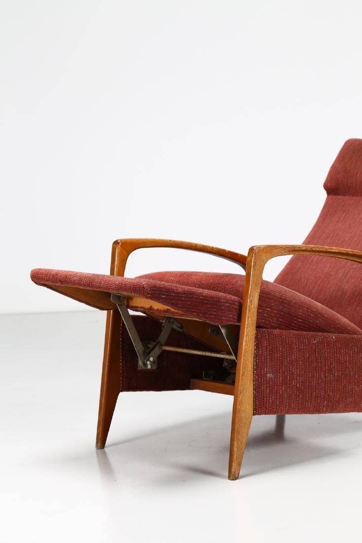 MANIFATTURA ITALIANA  Recliner armchair in walnut and - 5