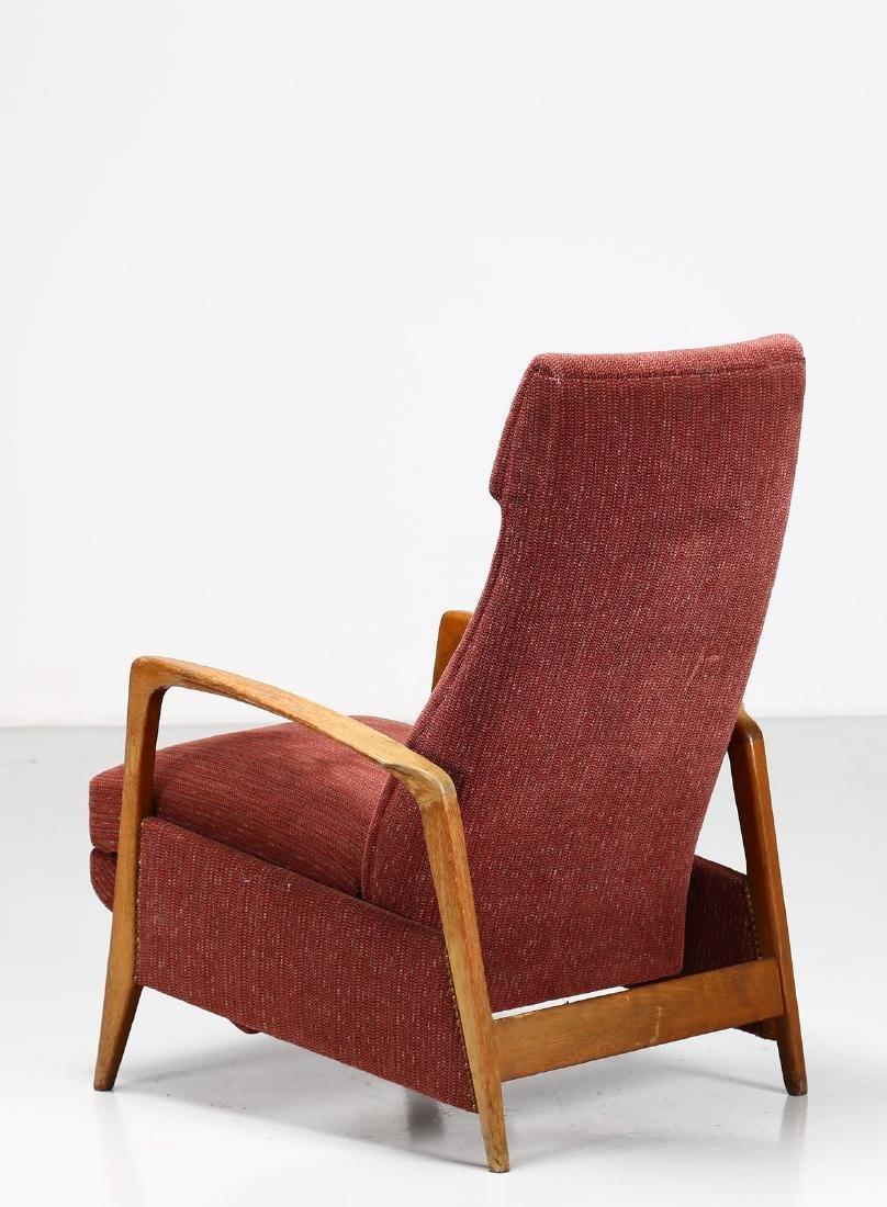 MANIFATTURA ITALIANA  Recliner armchair in walnut and - 6