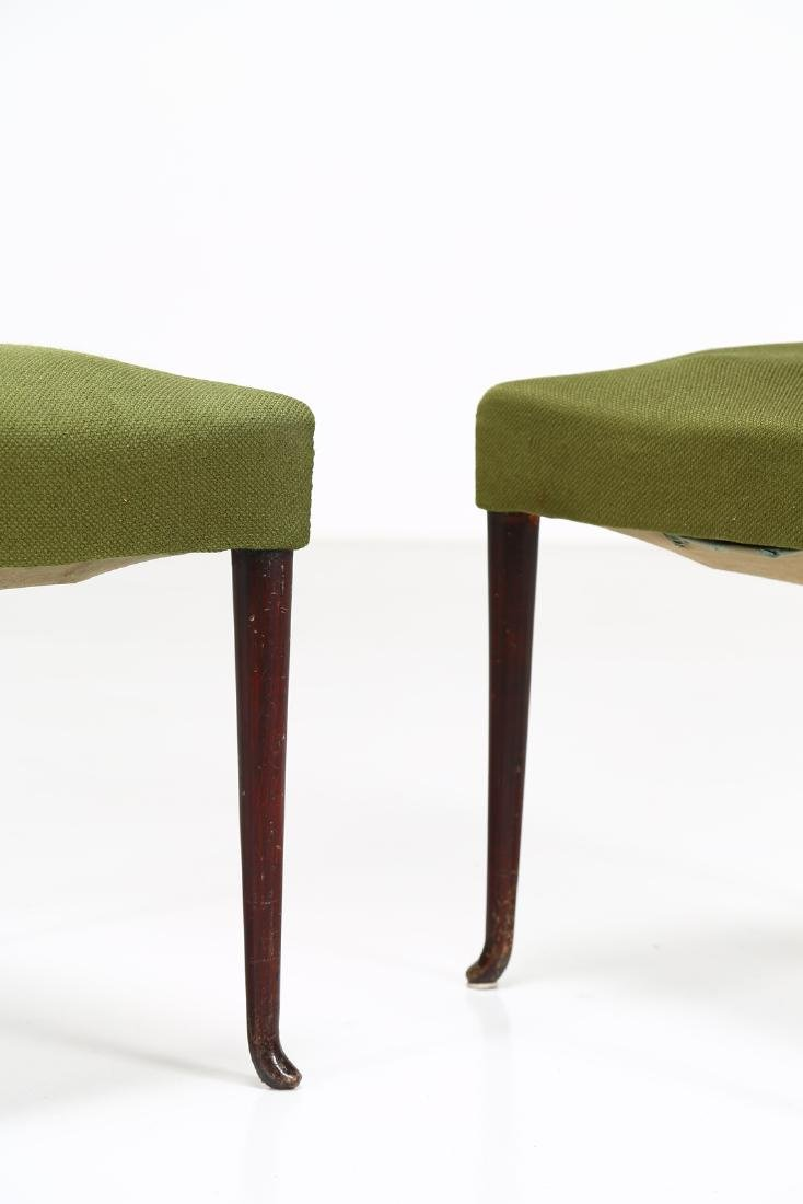 MELCHIORRE BEGA Two wood and fabric chairs by Cassina, - 2