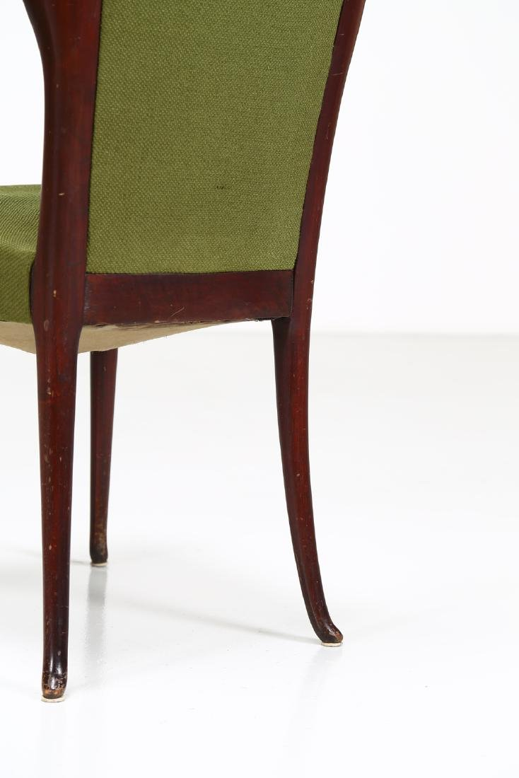 MELCHIORRE BEGA Two wood and fabric chairs by Cassina, - 3