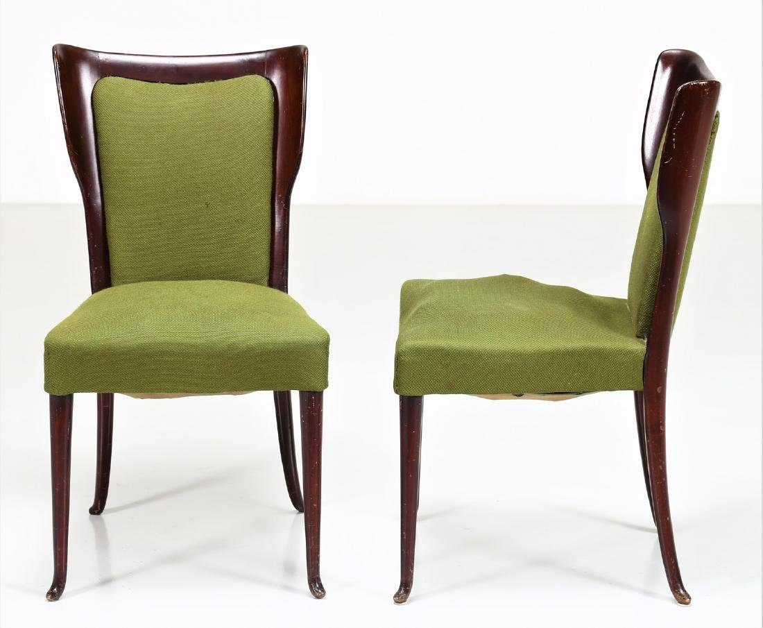 MELCHIORRE BEGA Two wood and fabric chairs by Cassina, - 5