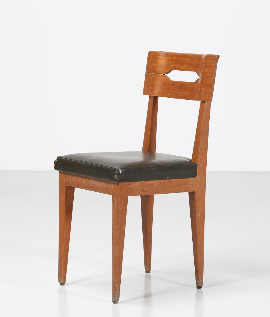 GIOVANNI MICHELUCCI Distinctive chair in teak and
