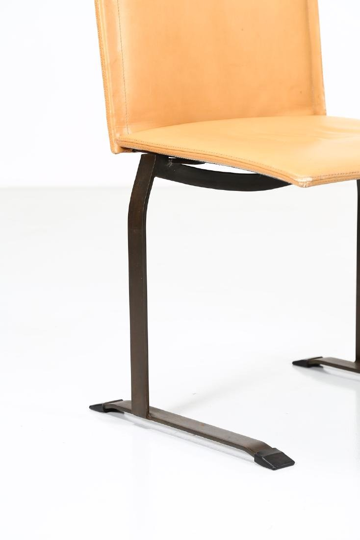 GIOVANNI OFFREDI Four chairs in lacquered metal and - 3