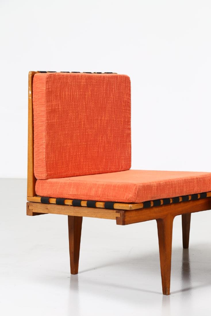 -  Corner seating unit in teak and fabric, 1960s. - 2