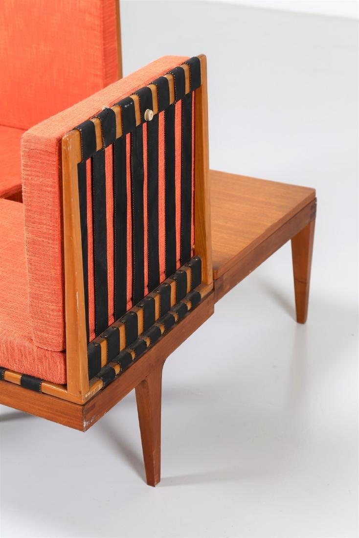 -  Corner seating unit in teak and fabric, 1960s. - 8