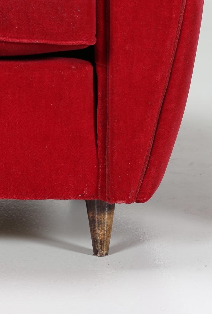 MANIFATTURA ITALIANA  Pair o wood anad woven armchairs, - 4