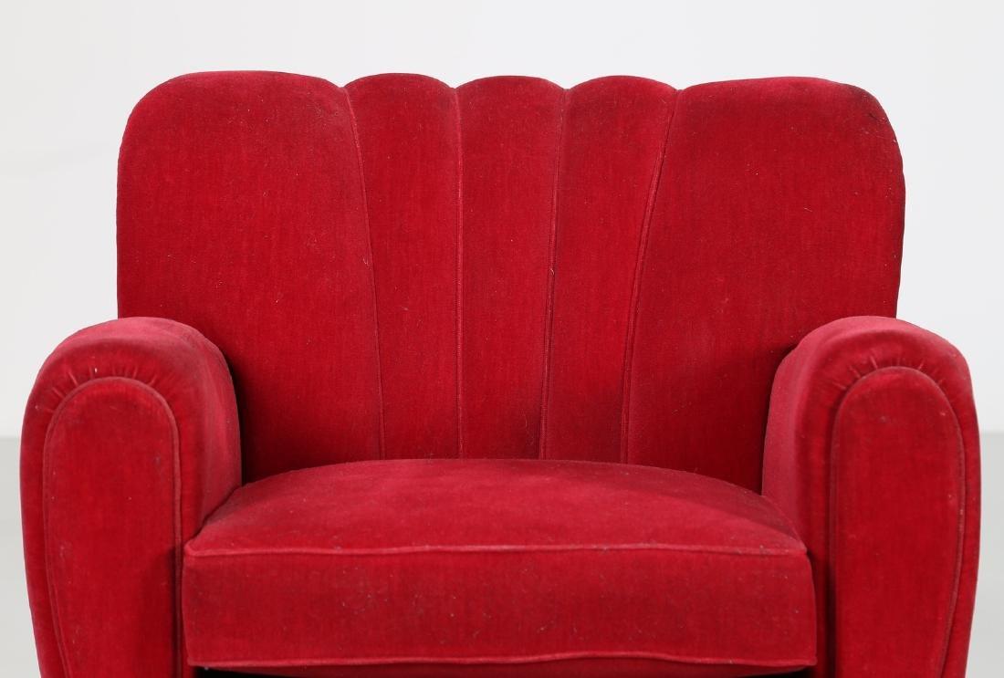 MANIFATTURA ITALIANA  Pair o wood anad woven armchairs, - 5