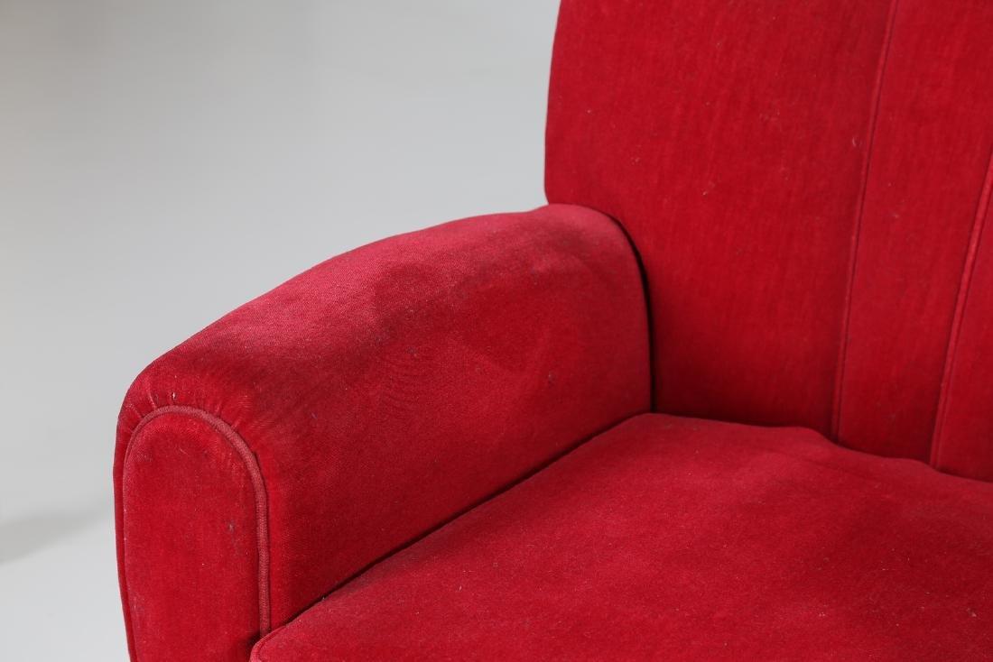 MANIFATTURA ITALIANA  Pair o wood anad woven armchairs, - 6