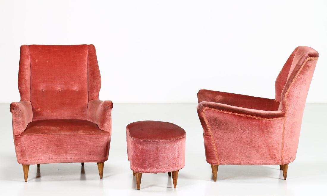 MANIFATTURA ITALIANA  Pair of armchairs and one - 2