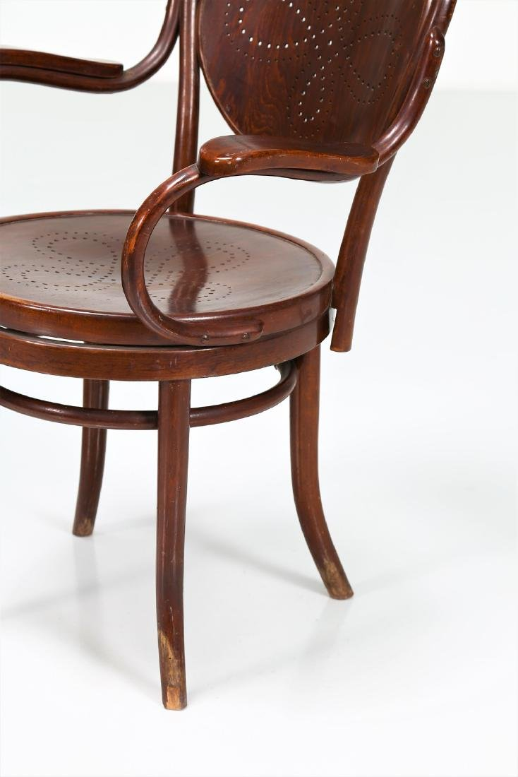 THONET, VIENNA  Pair of chairs with swivel seats, - 3