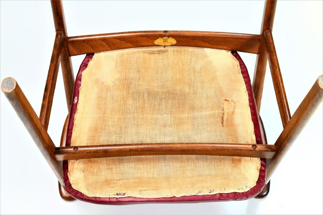 FRATELLI FORNASARIG Pair of chairs in wood and skai, - 8