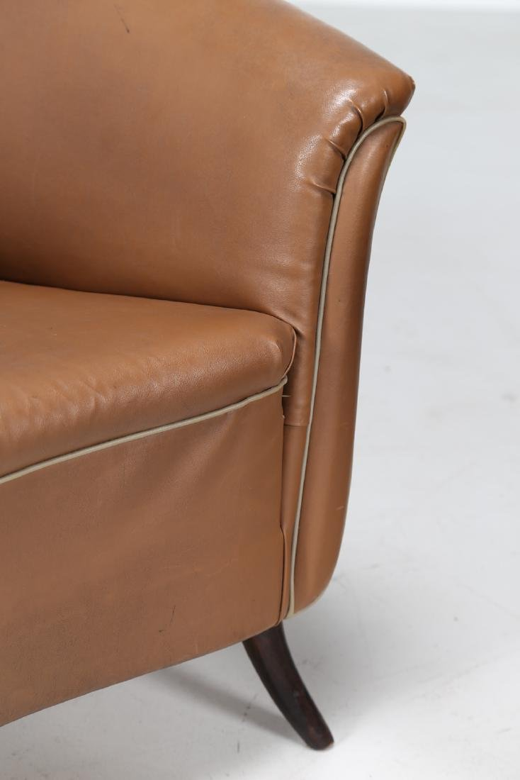 MANIFATTURA ITALIANA  Pair of bucket chairs in wood and - 5