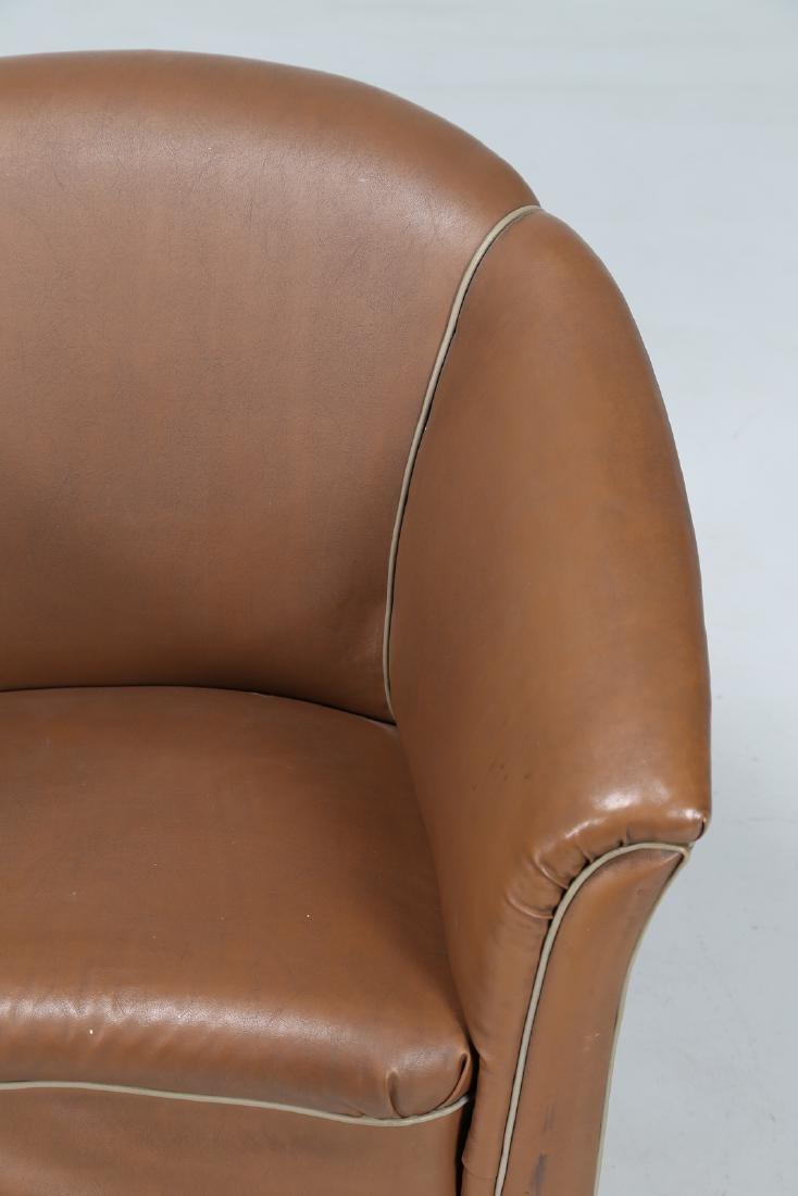 MANIFATTURA ITALIANA  Pair of bucket chairs in wood and - 6