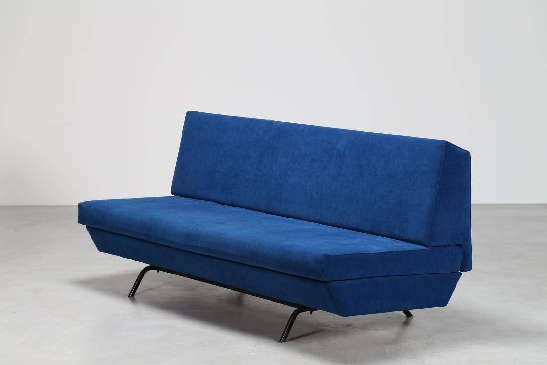 MANIFATTURA ITALIANA  Fabric sofa with metal tubular