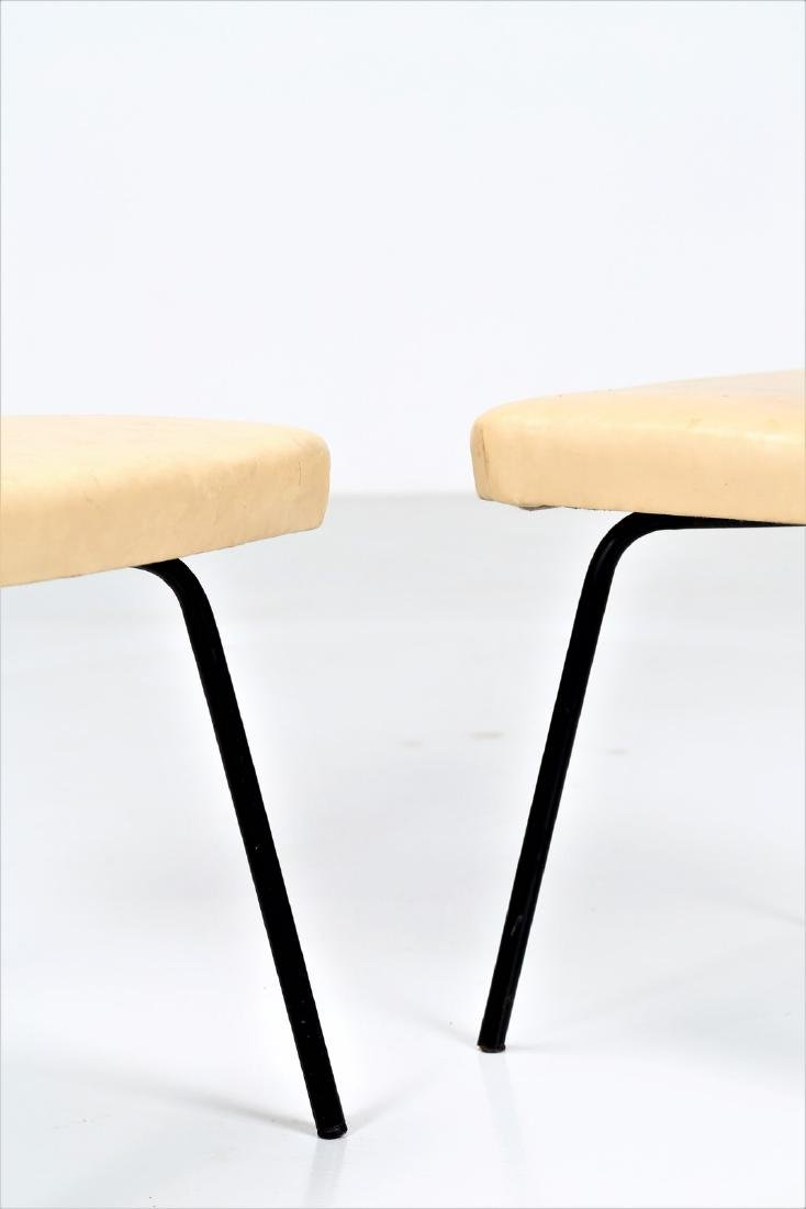 ISA BERGAMO  Six lacquered metal and skai chairs, - 2