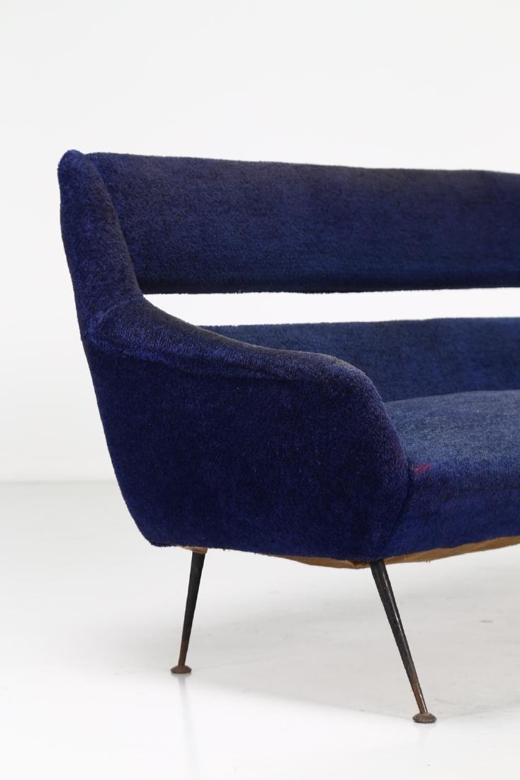 GIGI RADICE Three-seater sofa in metal and fabric, - 2