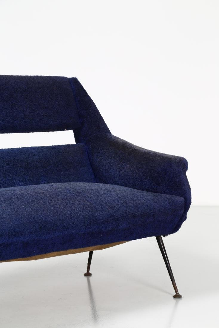 GIGI RADICE Three-seater sofa in metal and fabric, - 3