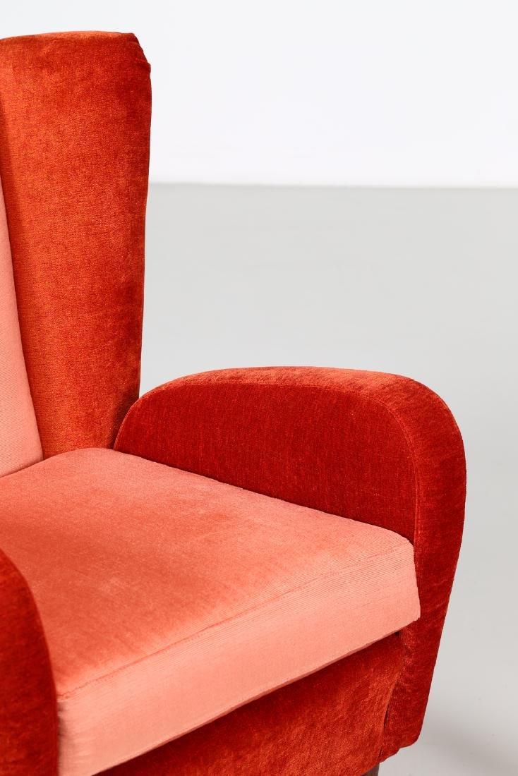 MANIFATTURA ITALIANA  Pair of wood and fabric - 5