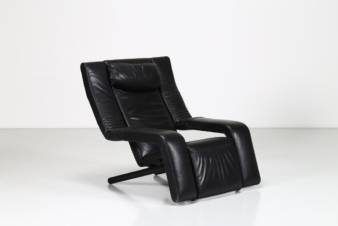 G.P.VITELLI E T.AMMANATI  Recliner armchair in metal
