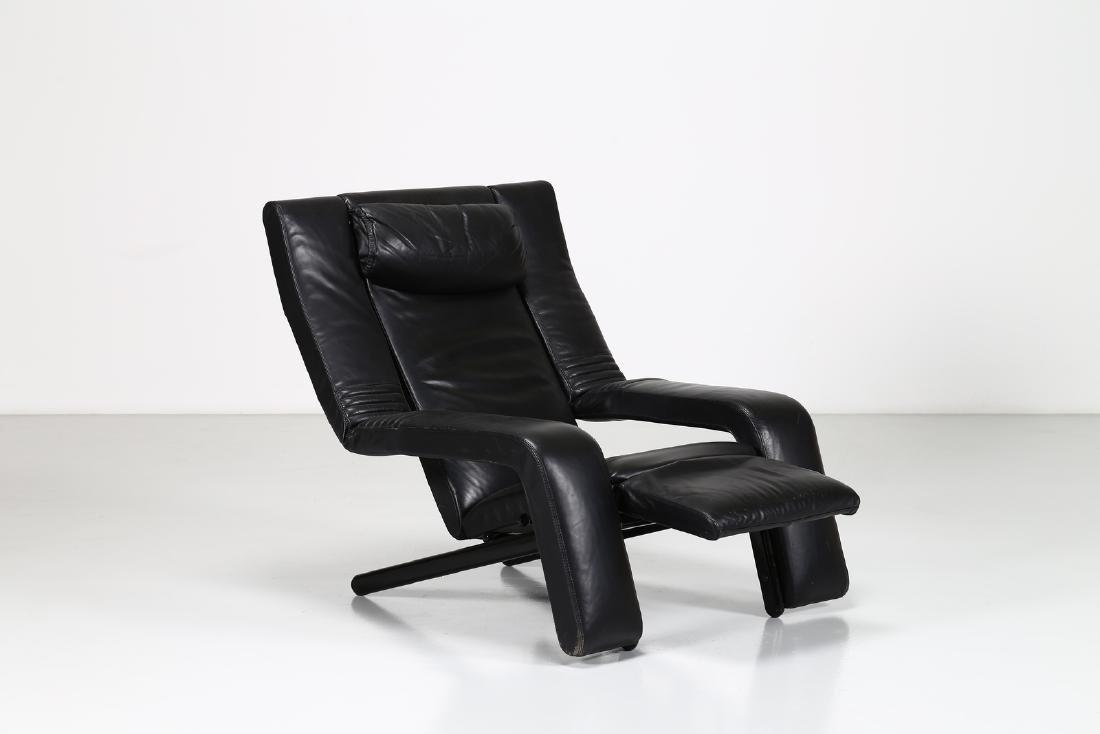 G.P.VITELLI E T.AMMANATI  Recliner armchair in metal - 2