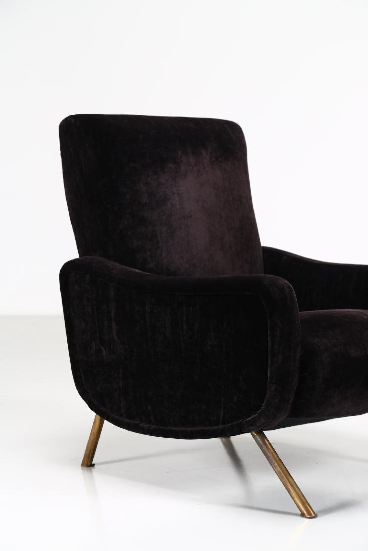 MANIFATTURA ITALIANA  Metal and fabric armchair, 1960s. - 2