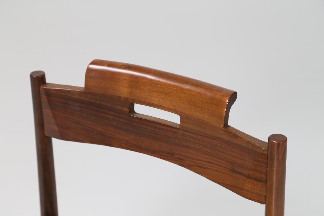 GIOVANNI MICHELUCCI Three walnut and straw chairs, mod. - 3