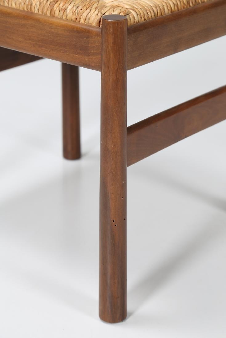 GIOVANNI MICHELUCCI Three walnut and straw chairs, mod. - 5